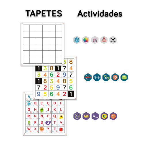 Tapetes y actividades del Pack Aula Infantil de TILK Education
