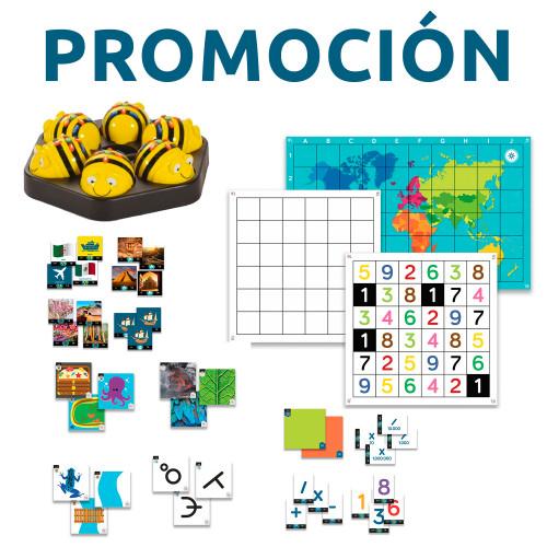 PROMOCIÓN: Pack Aula Primaria con tapetes y actividades + 6 Bee-Bot y estación de carga