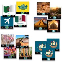 TILK Education: Fichas para tapete Mapamundi de Primaria