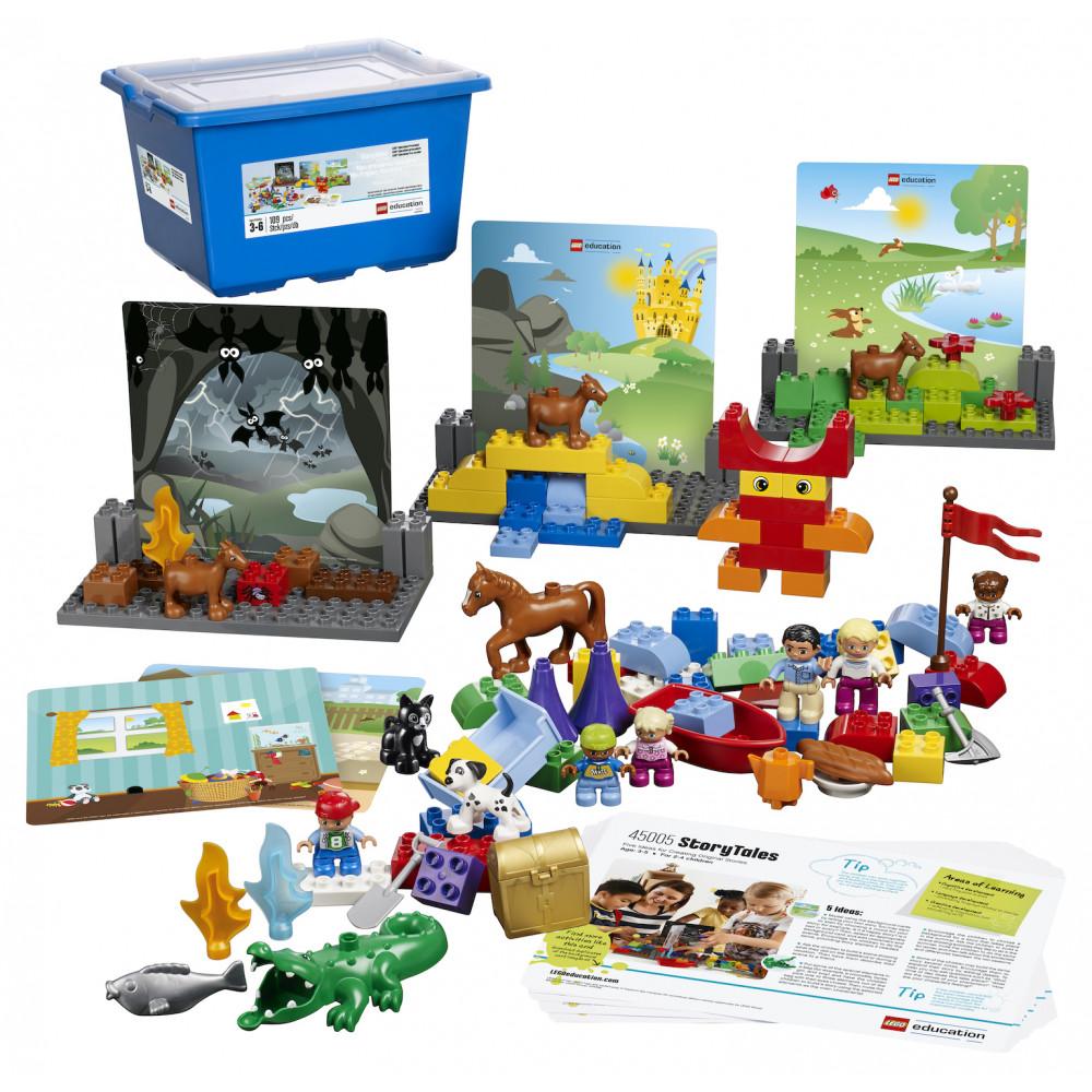 Caja y contenido de Escenografías de Lego Duplo