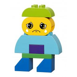 Representación de la tristeza de Construye Emociones de Lego Duplo