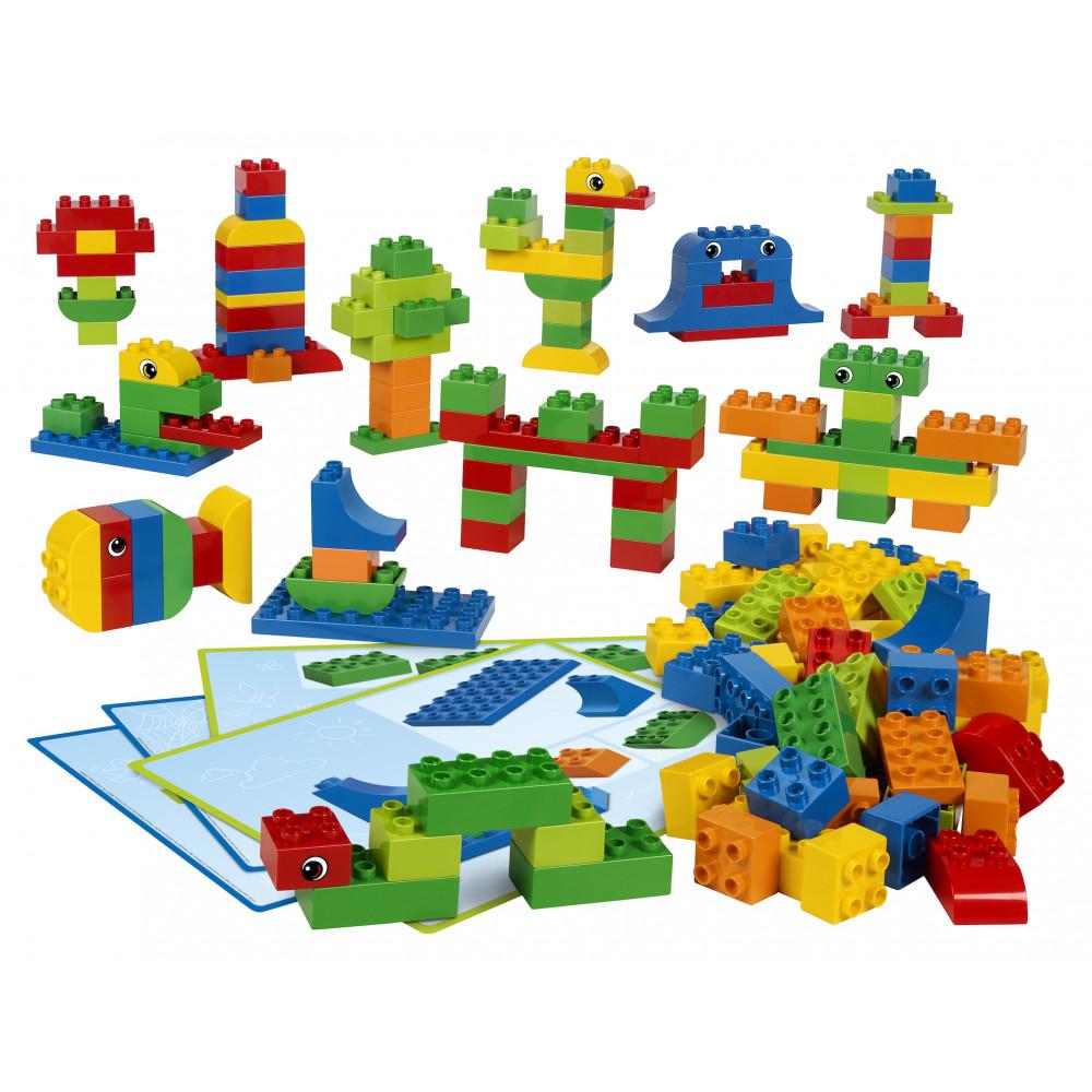 Ladrillos y tarjetas del Set creativo de ladrillos Lego Duplo