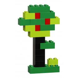 Árbol creado con el Set creativo de ladrillos de LEGO