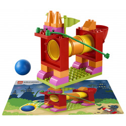 Ejemplo de construcción con Tubos Lego Duplo