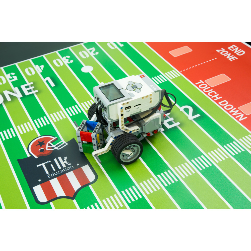 Tapete Fútbol Americano de TILK Education y LEGO ® MINDSTORMS Education EV3