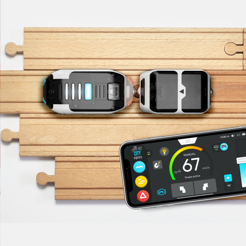 Tren intelino compatible con vías de madera