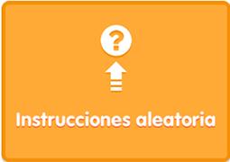 App Blue Bot modo reto instrucciones aleatorias