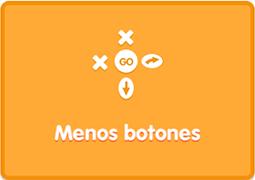 App Blue Bot modo reto menos botones