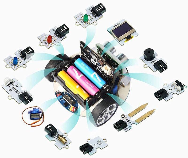 Cutebot micro:bit modulos electronicos