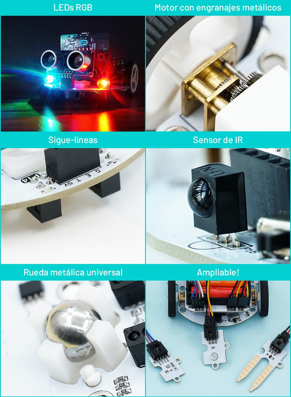 Cutebot micro:bit motores